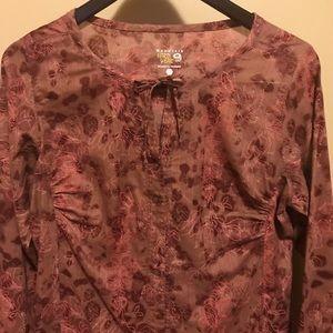 Mountain Hardwear floral print button down shirt